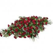all rose casket spray